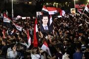 مردم سوریه در پی پیروزی بشار اسد در انتخابات جشن گرفتند + تصاویر