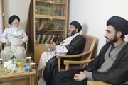 علامہ شفقت شیرازی کی نمائندہ ولی فقیہ عراق آیت اللہ سید مجتبیٰ حسینی سے ملاقات، نظام ولایت کے ساتھ عقیدت و ارادت کا کیا اظہار