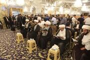 حضور آیتاللهالعظمی بشیر نجفی در مراسم بزرگداشت امام جماعت مسجد کوفه