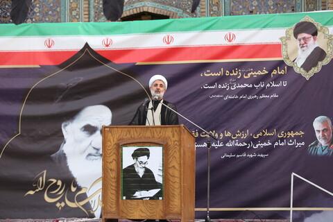 تصاویر / مراسم بزرگداشت رحلت حضرت امام خمینی (ره) در مدرسه مبارکه فیضیه