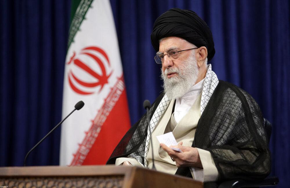 صوت کامل سخنرانی تلویزیونی رهبر معظم انقلاب در سالگرد ارتحال امام خمینی(ره)