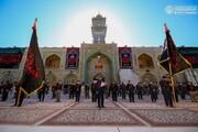 بالصور/منتسبو العتبة العلوية يؤدون الزيارة باستذكار شهادة الإمام الصادق (عليه السلام)