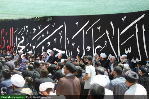 بالصور/ مشاركة العلماء ومراجع الدين في مجالس العزاء بذكرى استشهاد الإمام الصادق (ع) بمدينة قم المقدسة