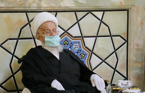 تصاویر/ مراسم بزرگداشت مرحوم حاج عزیز مکارم با حضور آیت الله العضمی مکارم
