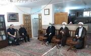 حضور مسئولان حوزه علمیه تهران در منزل مرحوم آیت الله شریعتمدار