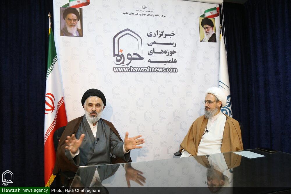 تصاویر / مصاحبه در مورد انتخابات در خبرگزاری حوزه