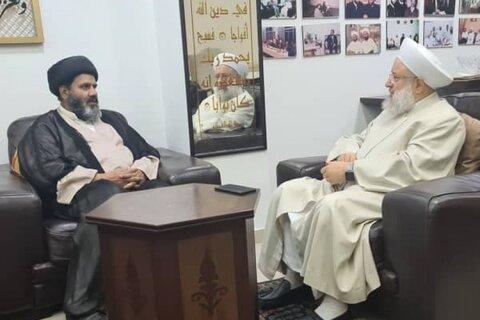 علامہ ڈاکٹر شفقت شیرازی کی مفتی اعظم لبنان الشیخ ماہر حمود سے ملاقات