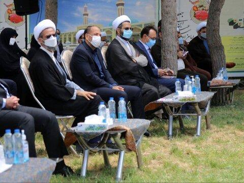 تصاویر/ آئین کلنگ زنی مجموعه مذهبی فرهنگی امامزاده سیدعباس(ع) بجنورد