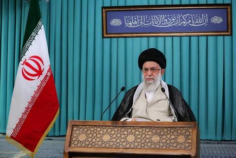تصاویر/ تیرہویں صدارتی انتخابات اور شہری و دیہی کونسلوں کے چھٹے انتخابات کے موقع پر رہبر انقلاب اسلامی کے خطاب کی تصویری جھلکیاں