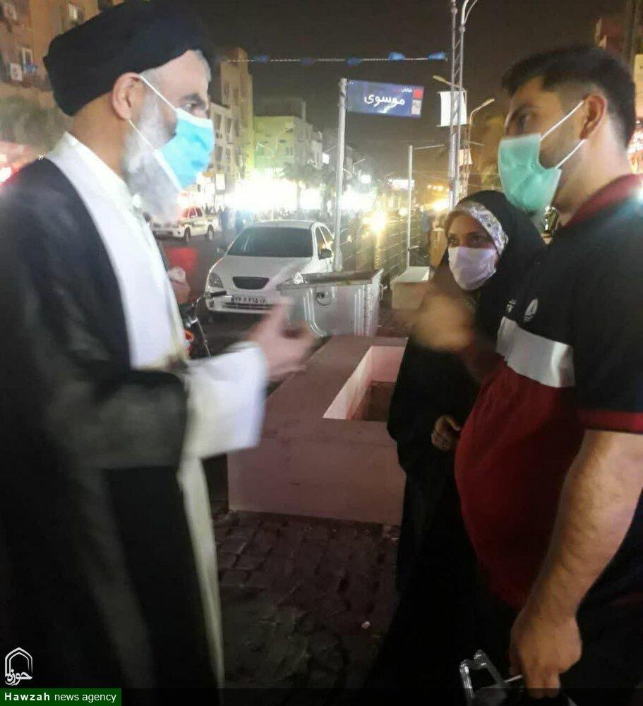 تبلیغ چهره به چهره امام جمعه اهواز در خیابان نادری اهواز + عکس
