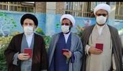 حضور امام جمعه خرم آباد در شعبه اخذ رای دبستان توحید