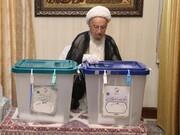 آیت الله العظمی مکارم نے اپنا ووٹ کاسٹ کیا