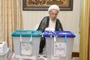 تصاویر/ انتخابات ۱۴۰۰؛ حضور مراجع و علما پای صندوقهای رأی -۱