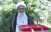 فیلم | شرکت آیتالله العظمی مظاهری در انتخابات