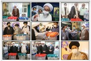 مراجع کرام،علماء و طلاب کی انتخابات میں شرکت +تصاویر