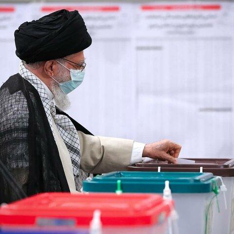 انتخابات میں رہبر انقلاب اسلامی کی شرکت
