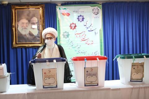 انتخابات ۱۴۰۰؛ حضور مراجع و علما پای صندوقهای رأی -۲