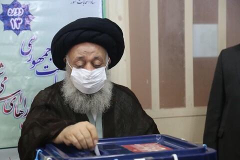 تصاویر/ حضور ایت الله موسوی جزایری در انتخابات