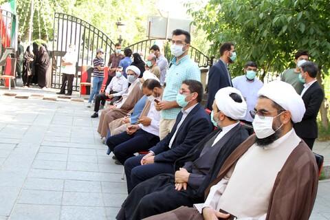 حضور مردم و مسئولان استانی همدان در پای صندوق رای