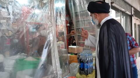 حضور سرزده نماینده ولی فقیه در خوزستان از بازارچه محلی منطقه کیان اهواز