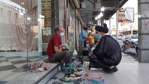 تصاویر/ بازدید سرزده نماینده رهبر در بازارچه محلی منطقه پایین شهر اهواز