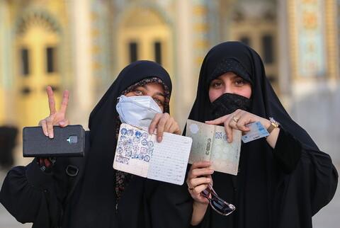 حضور پرشور مردم قم در انتخابات ۱۴۰۰