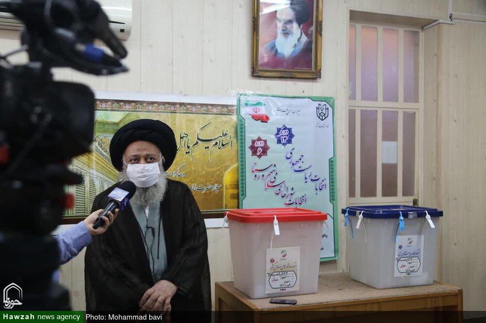 آیتالله موسوی جزایری در انتخابات شرکت کرد