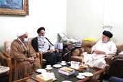 دیدار رئیس مرکز خدمات حوزه با نماینده آیت الله العظمی سیستانی