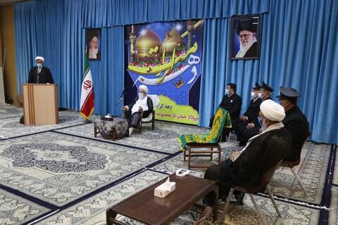 دیدار امام جمعه یزد با جمعی از خادمان حرم رضوی