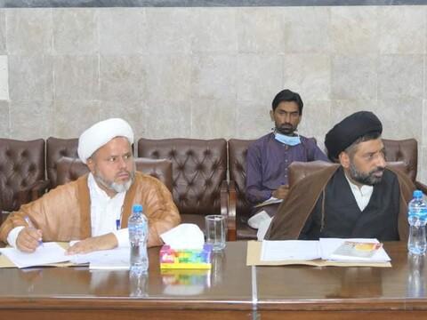 وفاق المدارس الشیعہ پاکستان کی مرکزی کابینہ کا اجلاس جاری
