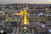 تصاویر/ حضرت امام رضا (ع) کی ولادت کے موقع پر حرم مطہر کی فضا سے لی گئیں خوبصورت مناظر