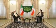 دیدار رئیس دفتر مقام معظم رهبری  با رئیس جمهور منتخب