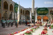 بالصور/منتسبو العتبة العلوية يؤدون الزيارة باستذكار الولادة الميمونة لثامن الحجج الإمام الرضا(عليه السلام)