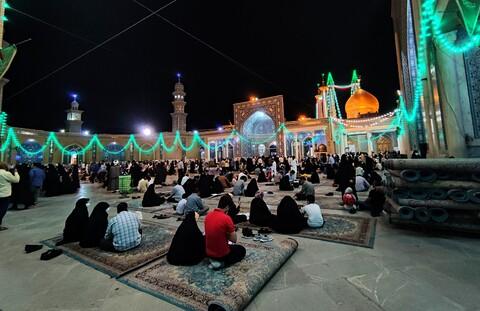 تصاویر/ حال و هوای حرم کریمه اهل بیت در شب میلاد امام رضا(ع)
