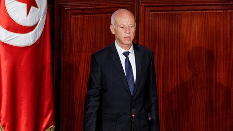قیس سعید رئیس جمهور تونس