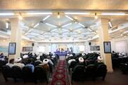 تصاویر/ همایش تجلیل از حوزویان گفتمان انقلاب اسلامی انتخابات ۱۴۰۰