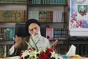 تصاویر/ درس اخلاق مدیر حوزه علمیه همدان در جمع حوزویان کردستان