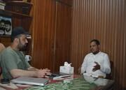 فلسطین فاونڈیشن پاکستان کے رہنماء کی مرکزی صدر آئی ایس او سے ملاقات، مشترکہ جدوجہد کا عزم