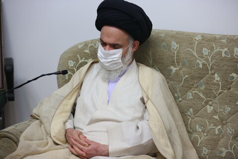 تصاویر/ دیدار آیت الله بوشهری با مدیر  جدید  موسسه امام خمینی(ره)
