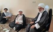 عیادت معاون دفتر تبلیغات اسلامی از مبلغ پیشکسوت حوزه