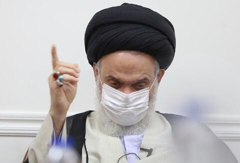 تصاویر/ دیدار رئیس سازمان پژوهش و برنامه ریزی آموزشی کشور با آیت الله حسینی بوشهری