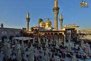 بالصور/ ضريح الإمامين الكاظمين يتشح بالسواد إعلاناً للحِداد ذكرى استشهاد الإمام محمد الجواد ( عليه السلام)