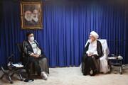 فیلم | دیدار رئیس جمهور منتخب مردم با آیت الله العظمی نوری همدانی