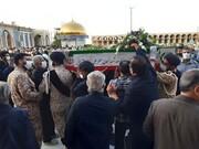 تصاویر/ تشییع پیکر جانباز ۷۰ درصد شهید حاج جعفر علی هیزمی آرانی