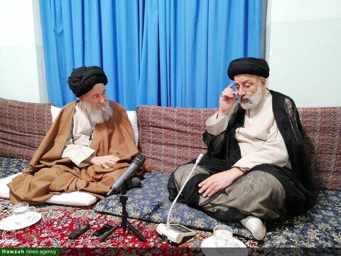 بالصور/ السيد رئيسي يلتقي بسماحة آية الله نوري الهمداني وآية الله العلوي الجرجاني بقم المقدمة