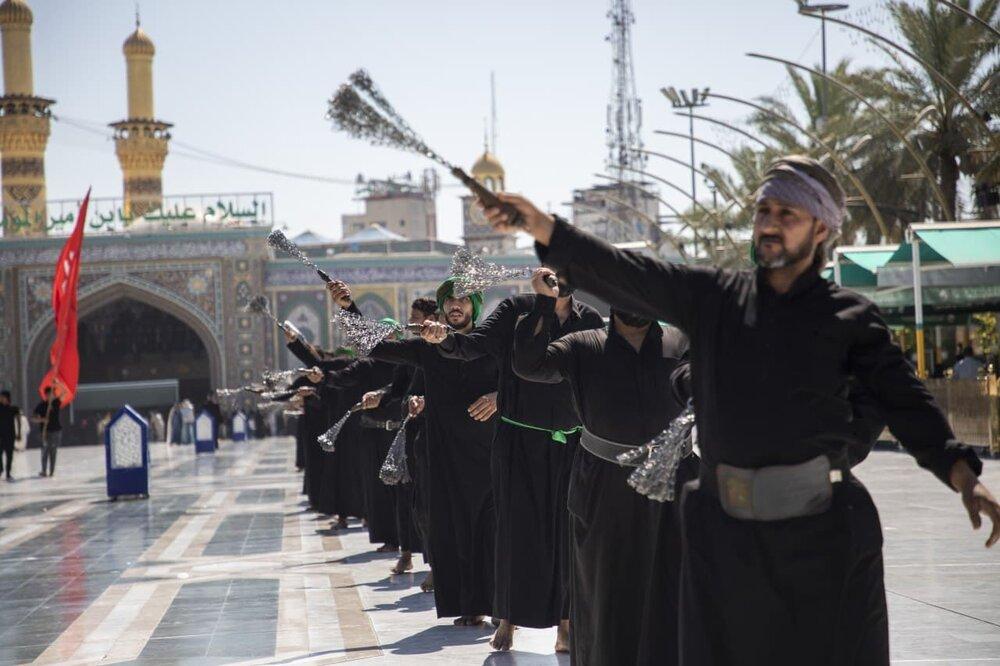 بالصور/ التشييع الرمزي للامام محمد الجواد (ع) في كربلاء