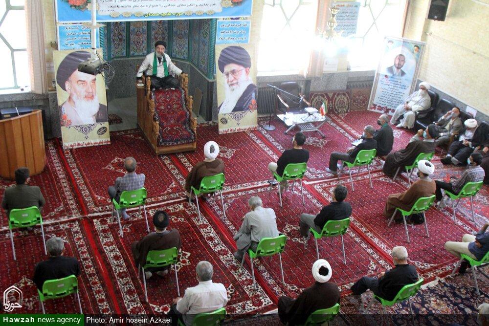 تصاویر   برگزاری مراسم شهادت امام جواد(ع) در حوزه آیت الله آخوند همدان