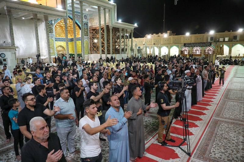 بالصور/الامانة العامة للعتبة العسكرية المقدسة تقيم مراسيم التشييع الرمزي لنعش الإمام الجواد (عليه السلام)
