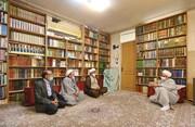 تصاویر/ دیدار نمایندگان آیت الله اعرافی با حجت الاسلام والمسلمین ثقفی از اساتید حوزه