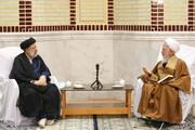 تصاویر / دیدار رئیس جمهور منتخب با آیت الله العظمی جوادی آملی در دماوند